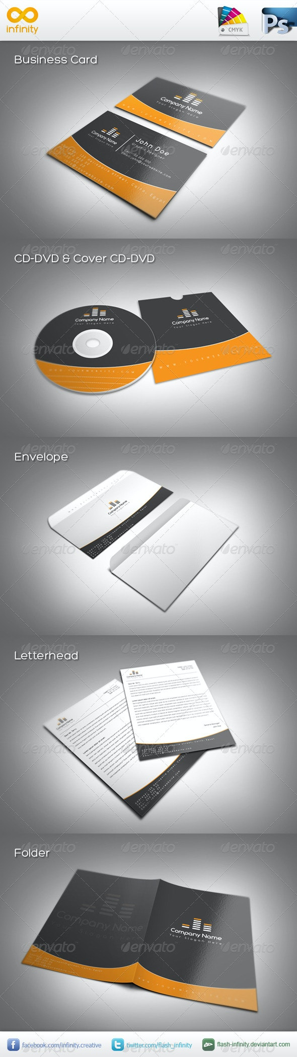 Corporate Identity 1 - Stationery Print Templates