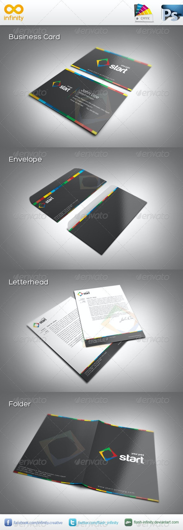 Start Corporate Identity - Stationery Print Templates