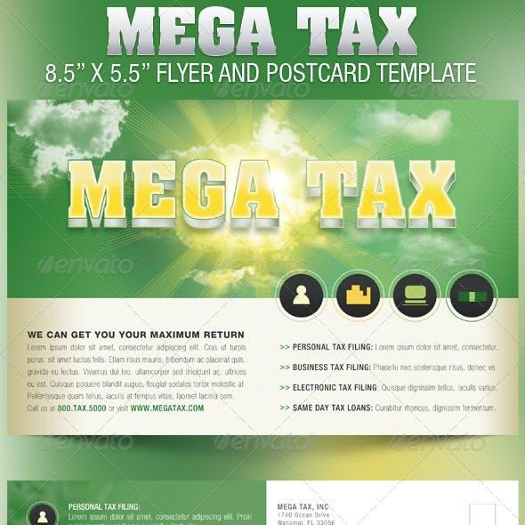 Mega Tax Flyer Postcard Template
