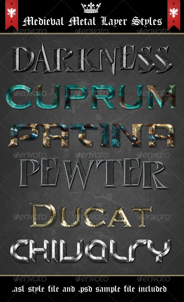 Medieval Metal Layer Styles - Text Effects Styles