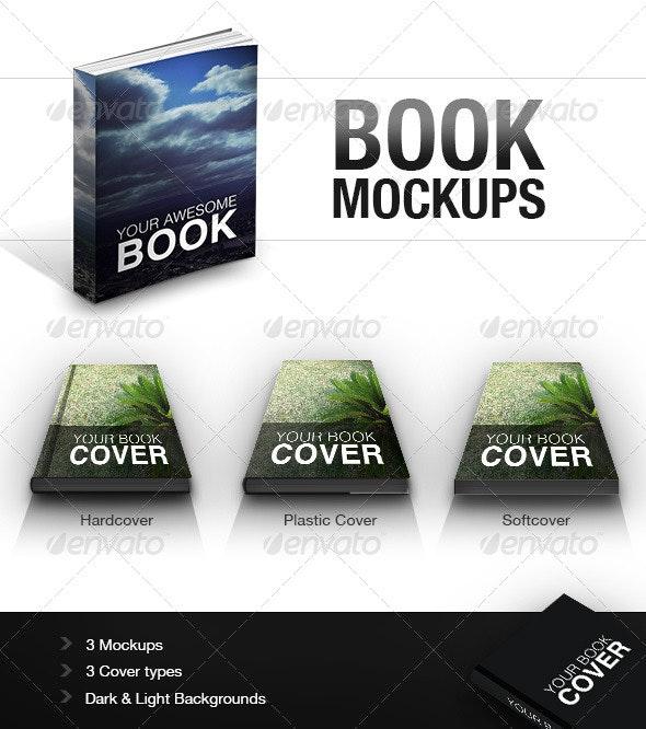 Book Mockups - Print Product Mock-Ups