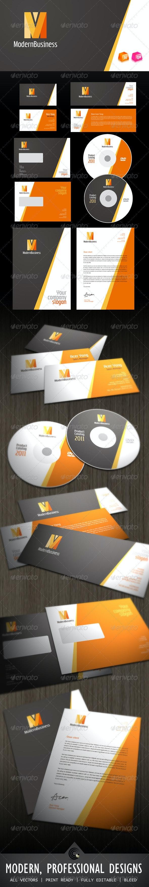 Modern Business Corporate Identity - Stationery Print Templates