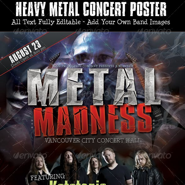 Heavy Metal Poster Photoshop Template