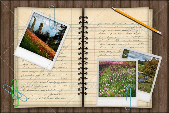 Notebook Photo Template Background - Photo Templates Graphics