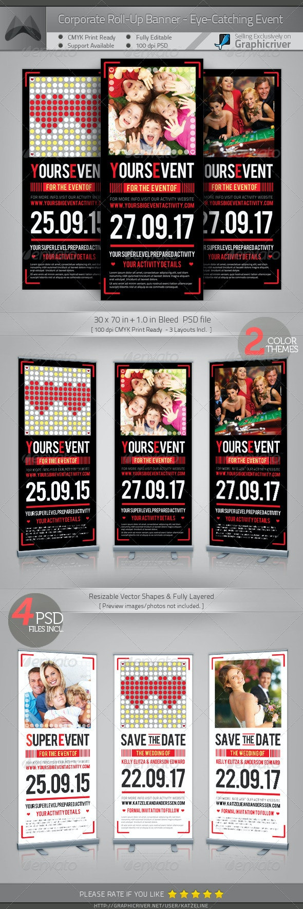 Corporate Roll-up Banner - Eye-catching Event - Signage Print Templates