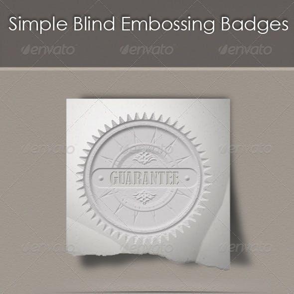 Simple Blind Embossing Badges