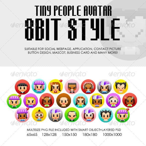 Tiny People Avatar 8bit Style