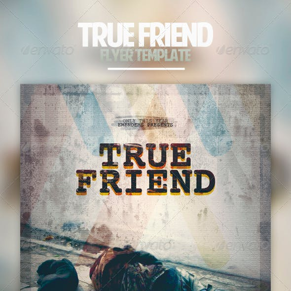 True Friend Flyer Template