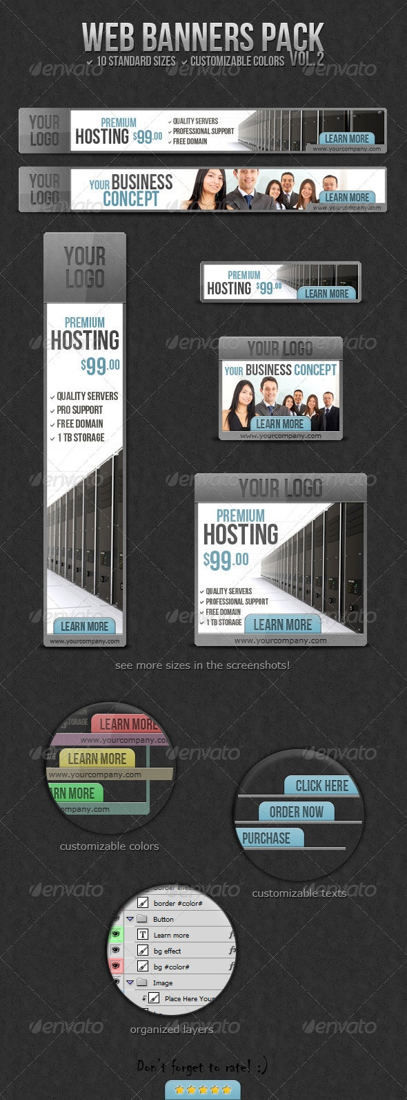 Elegant Multipurpose Web Banners Pack - Banners & Ads Web Elements
