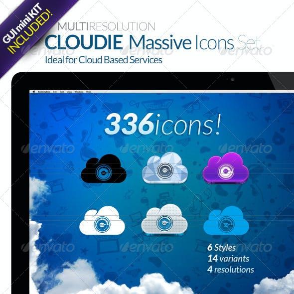 CLOUDIE Massive Icon Set (336 icons)