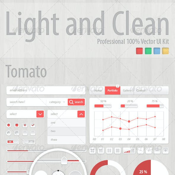 Light and Clean, Professional UI Kit