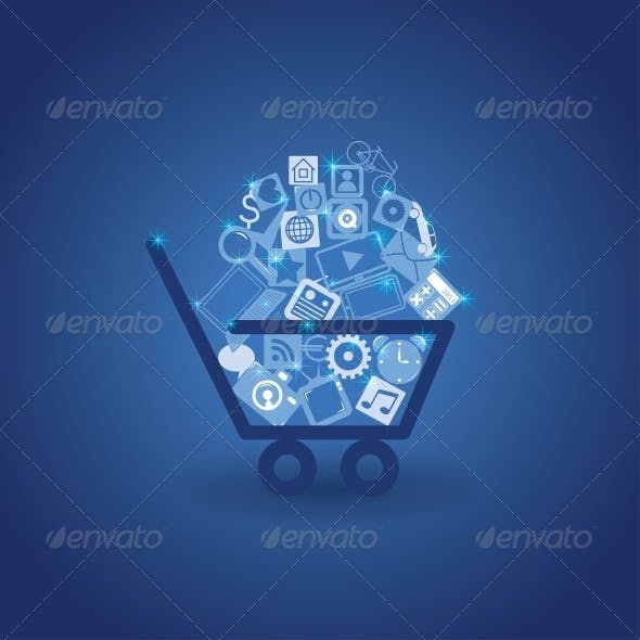 Basket with Shopping Cart