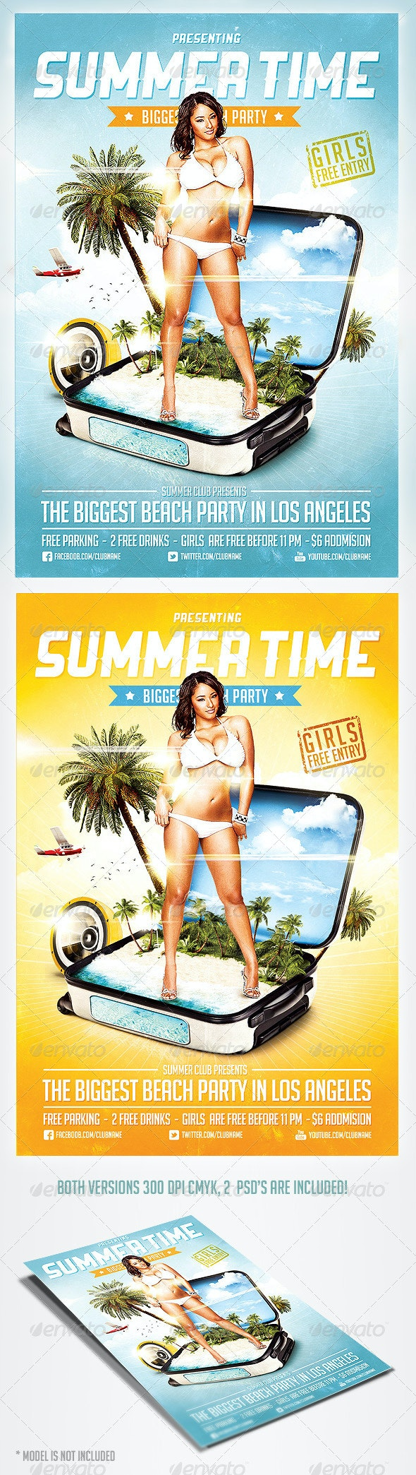 Summer Time Party Flyer - Clubs & Parties Events