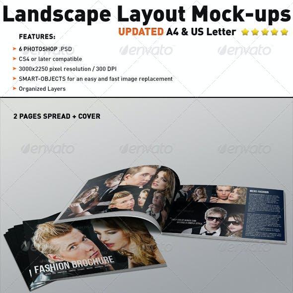 Realistic Landscape Layout Brochure Mock-ups