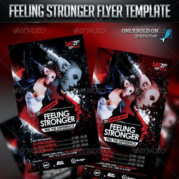 Feeling Stronger Flyer Template