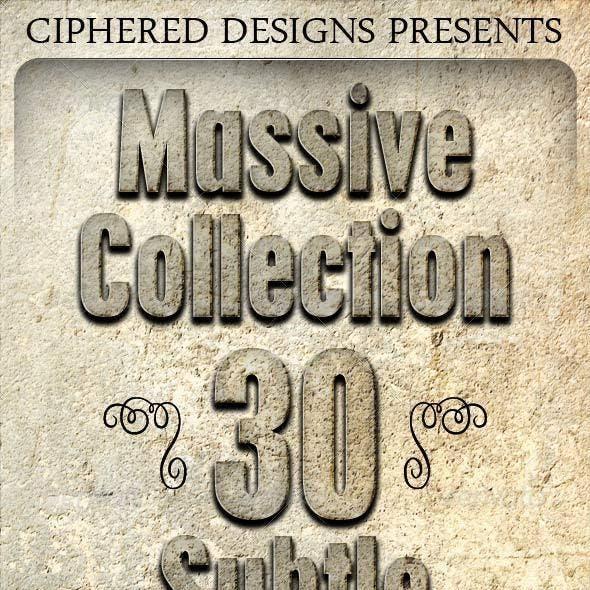 Massive Collection - 30 Subtle Concrete Textures