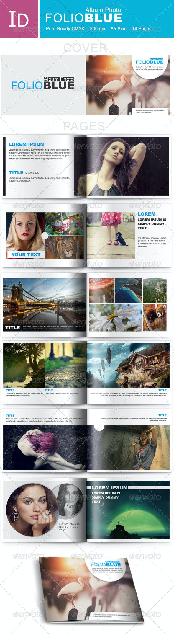 FolioBlue - Album Photo  - Photo Albums Print Templates