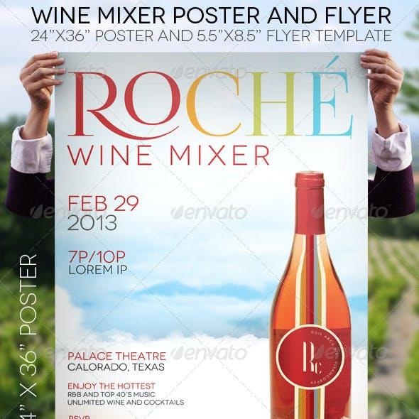 Wine Mixer Poster Flyer Template