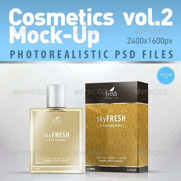 Cosmetics Photorealistic Mock-Up vol.2
