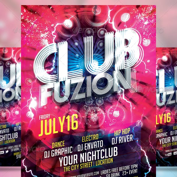 Club Sessions l Party Fusion Flyer