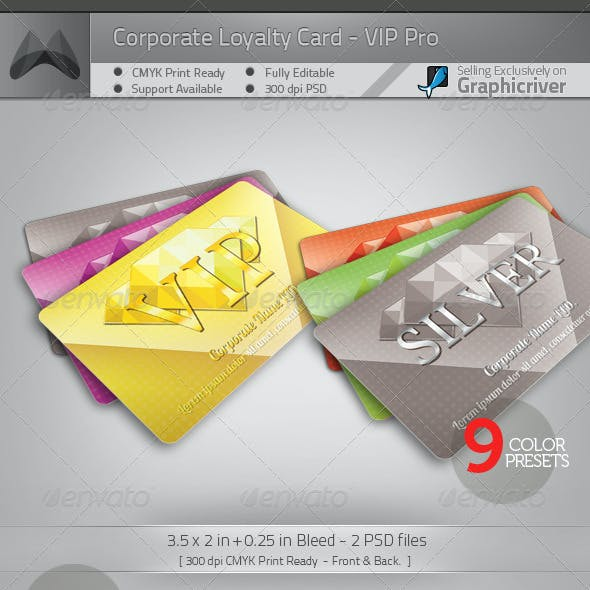 Loyalty Card - VIP Pro