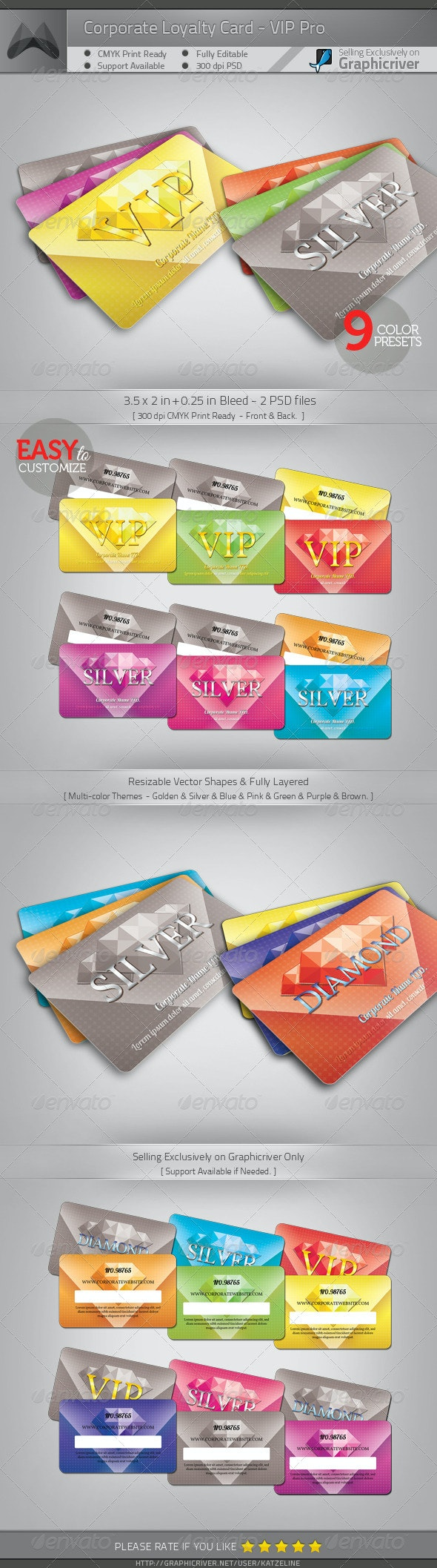 Loyalty Card - VIP Pro - Loyalty Cards Cards & Invites