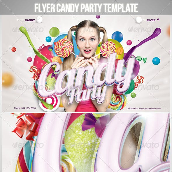 Flyer Candy Party Template