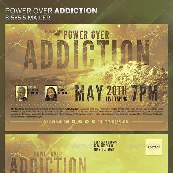 Power over Addiction: Church Flyer Template