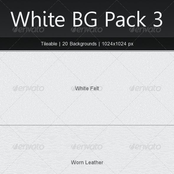 Tileable White Background Pack 3