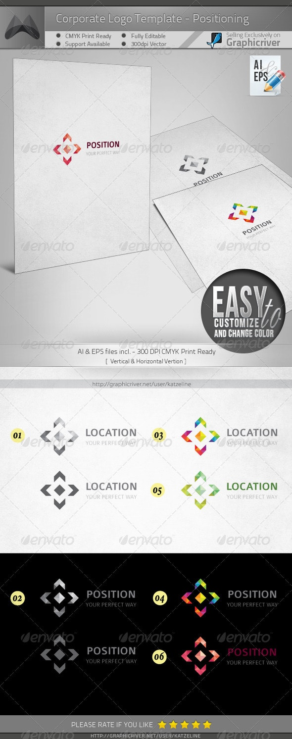 Corporate Logo - Position - Objects Logo Templates