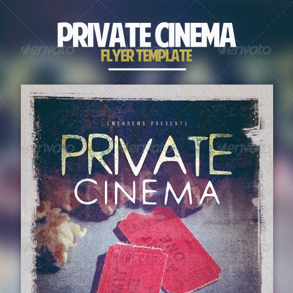 Private Cinema Flyer Template