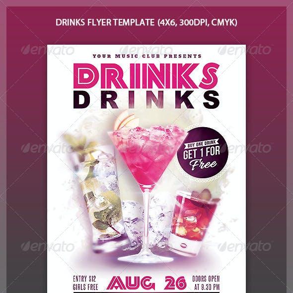 Drinks Flyer Template