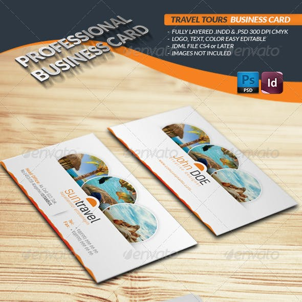 Travel Tours Business Card Template