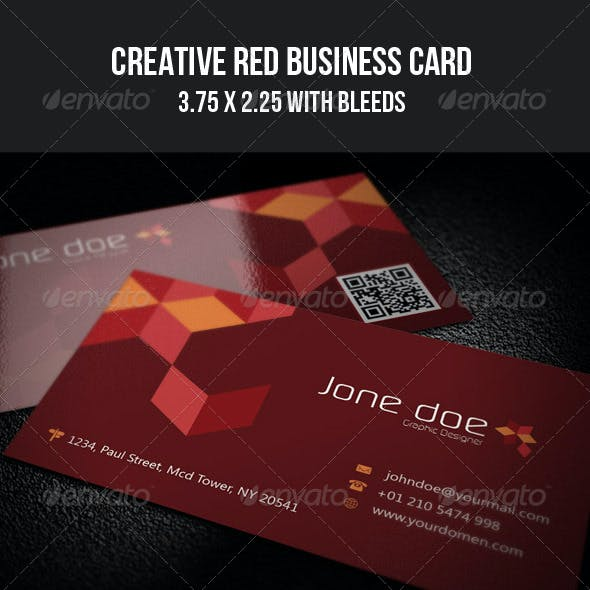Creative Red Business Card - 09