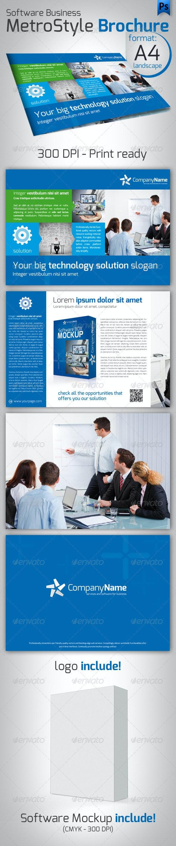 Software Metro Style Brochure - Corporate Brochures