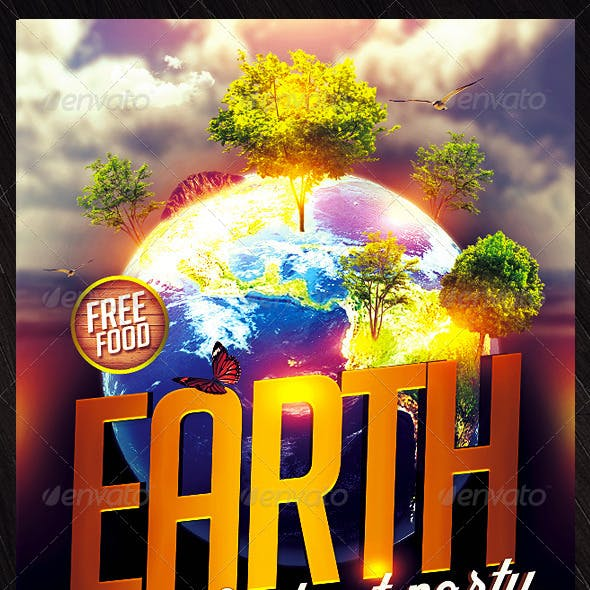 Earth Day Flyer Design
