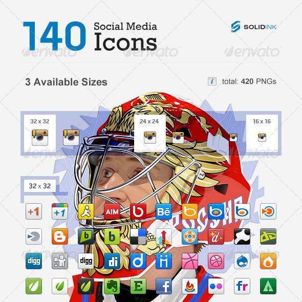 Small Social Media Icons