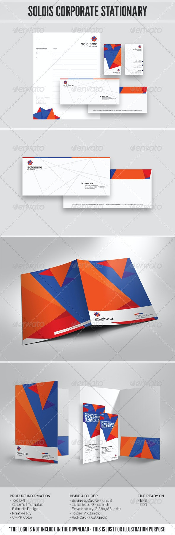 Solois Stationary Template - Stationery Print Templates