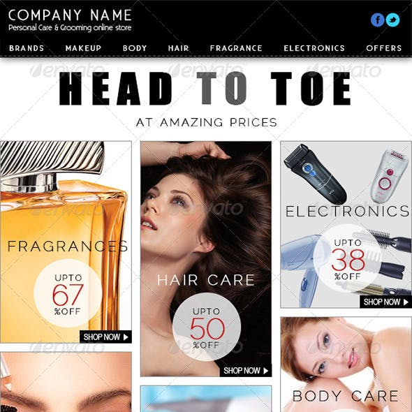 Personal Care and Grooming E-commerce Newsletter