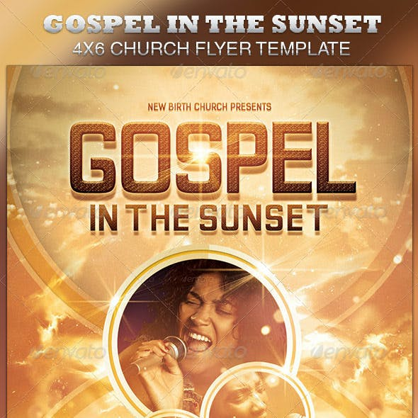 Gospel in the Sunset Church Flyer Template