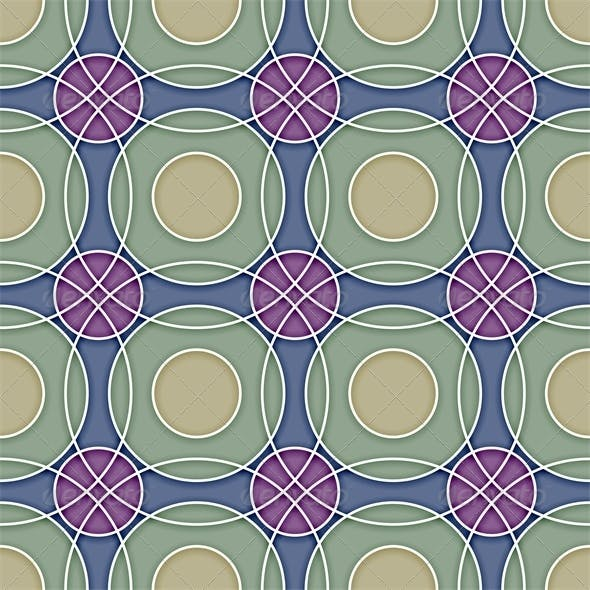 Seamless Ceramic Circles Background