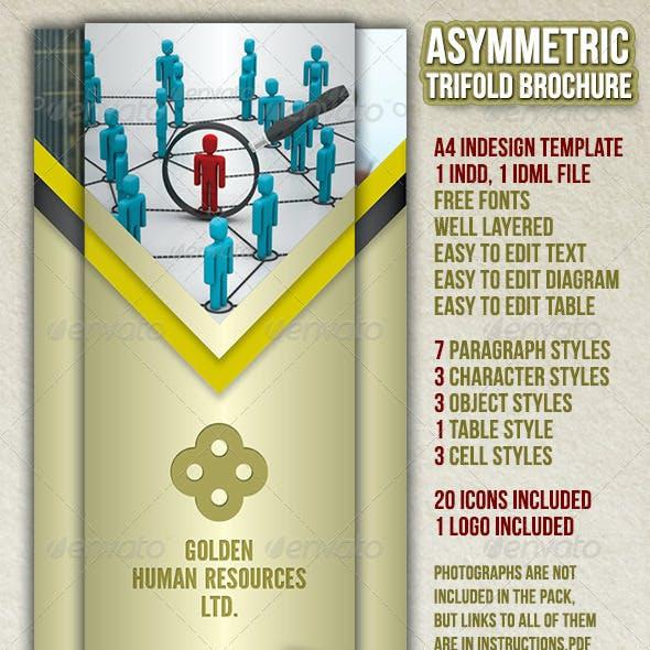 Asymmetric Trifold Brochure A4