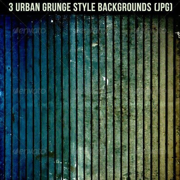 3 Urban Grunge Style Backgrounds