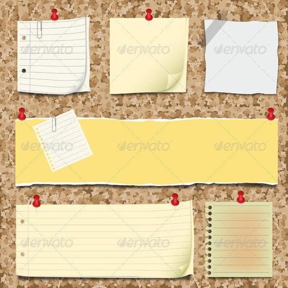 Back to school - notepaper collection - Miscellaneous Vectors