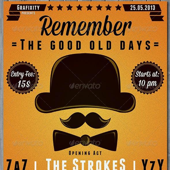 The Good Days  Vintage-Retro Poster