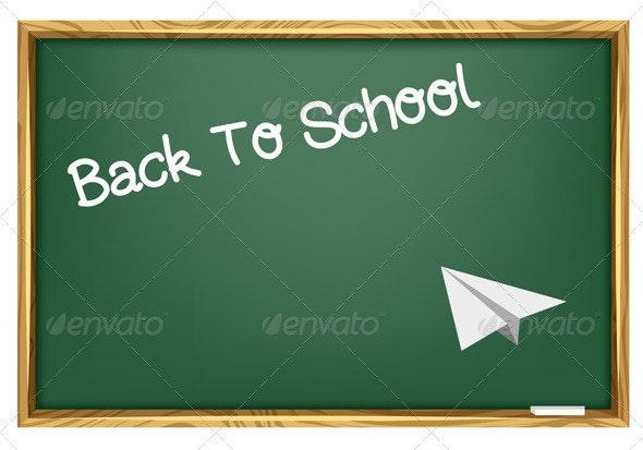 Back To School Blackboard - Miscellaneous Vectors