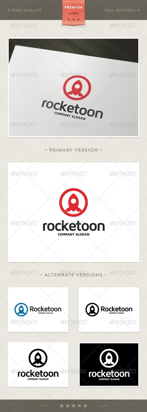 Rocketoon - Rocket Symbol Logo Template - Objects Logo Templates