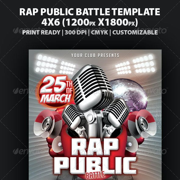 Rap Battle Public Flyer Template