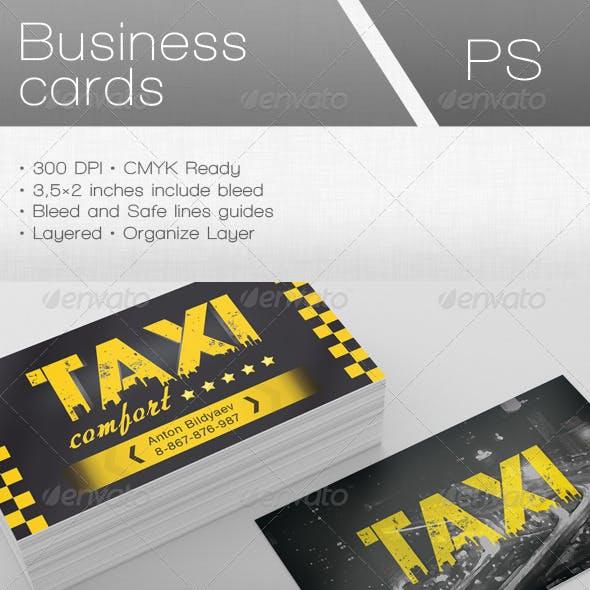 Taxi Comfort Business Card