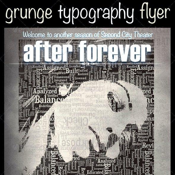 Grunge Typography Flyer